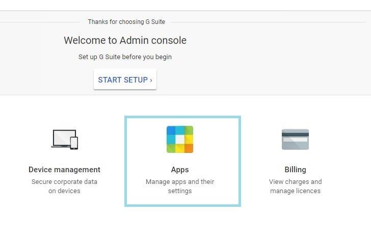 g suite manage app settings