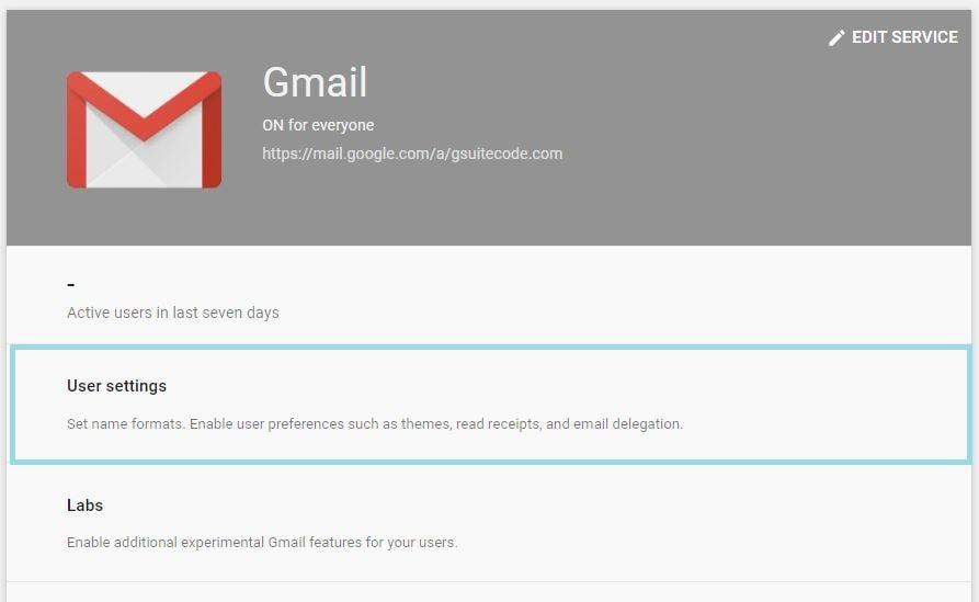 gmail user settings