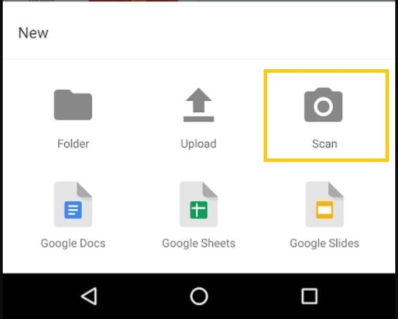 google workspace scan files on drive app
