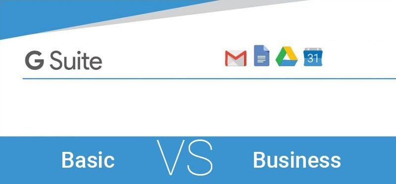 difference between g suite basic and business