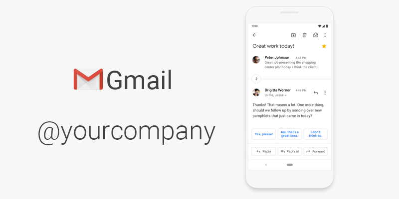 create professional email with Google Workspace