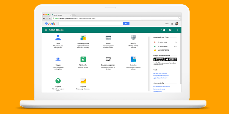 Google Workspace admin security access