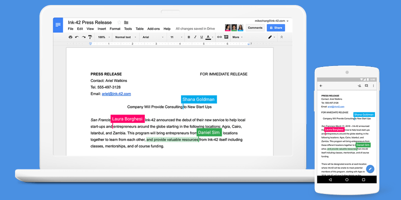Google Workspace docs editing feature