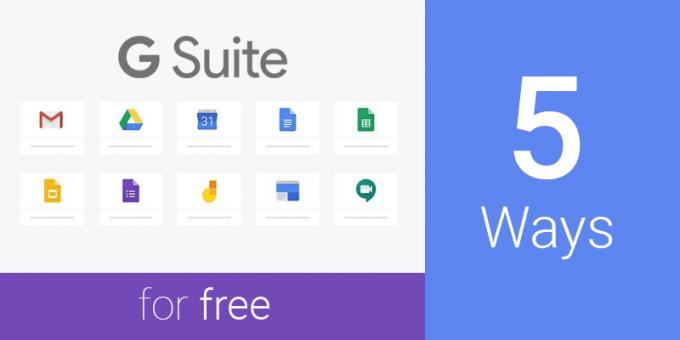 how to get g suite for free
