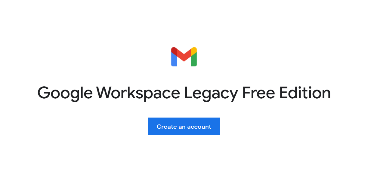 google workspace legacy free edition