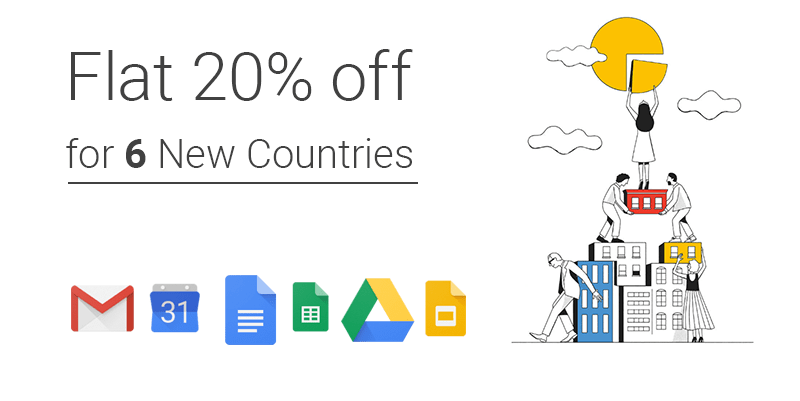 g suite discount available for 6 more countries