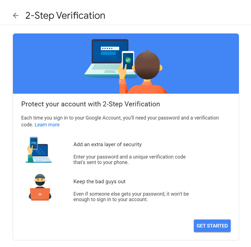gmail two-factor authentication