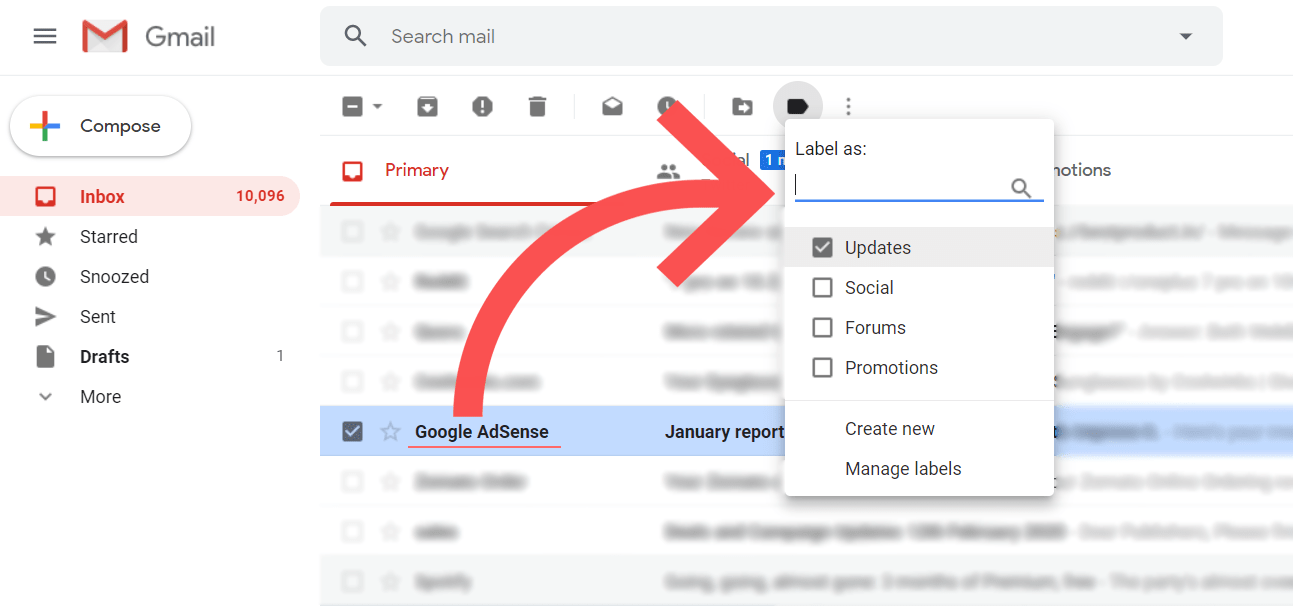set labels in gmail