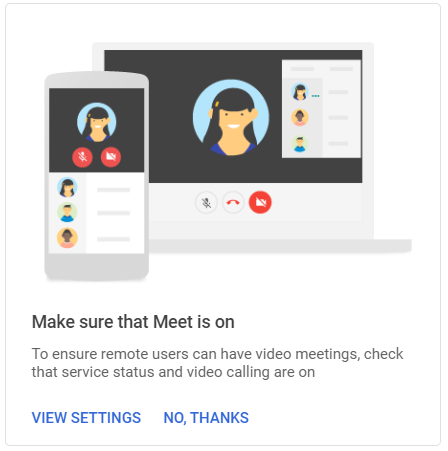 G Suite Meet video setting