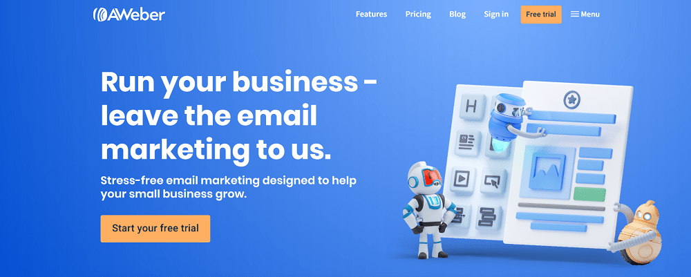 AWeber email for small business