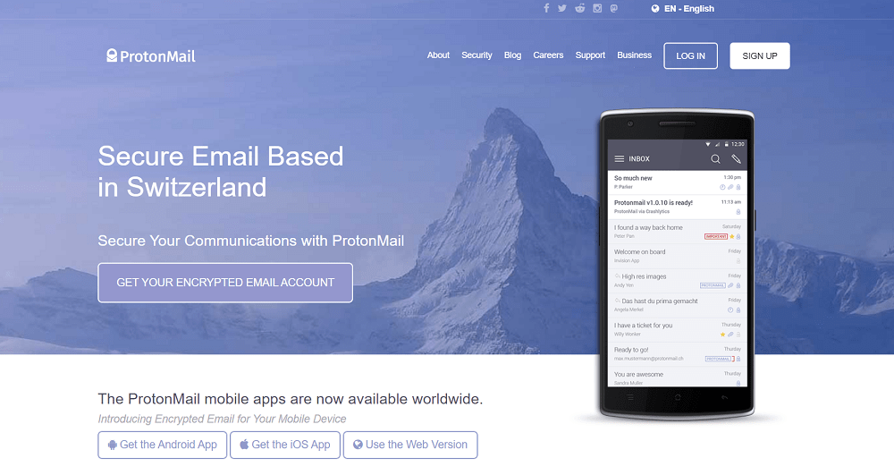 Protonmail email for small business