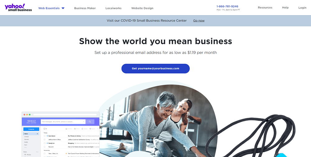 Yahoo mail email for small business