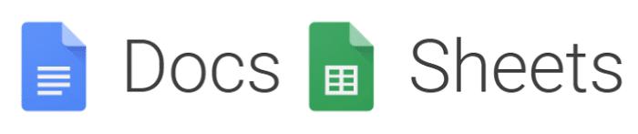 google docs and sheets new logo