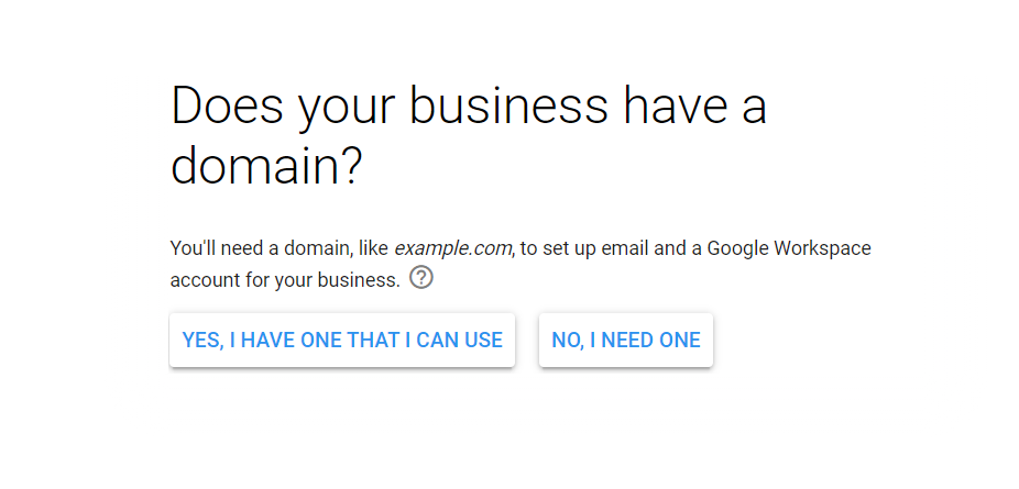 google workspace business domain name