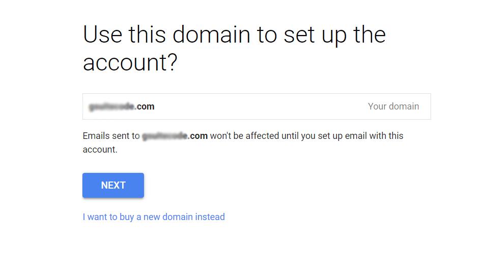 google workspace domain setup