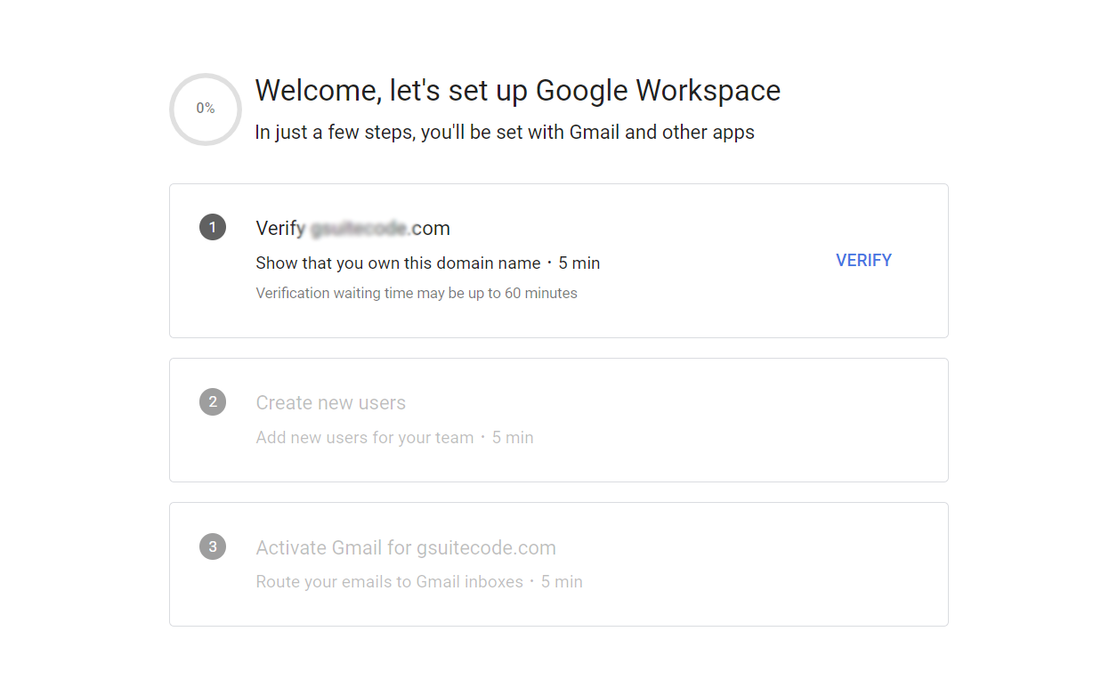 verify google workspace domain name